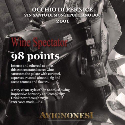 Avignonese Occhio di Pernice Vin Santo di Montepulciano 2001