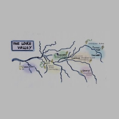 The Loire Valley Hand Drawn Map 2
